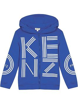 kenzo-boys-logo-zip-through-hoodie--nbspblue