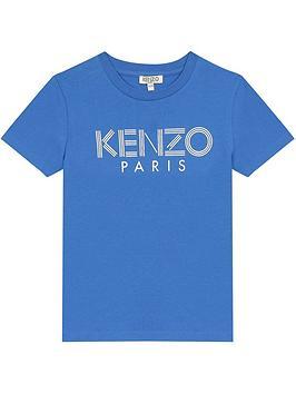 kenzo-boys-short-sleeve-logo-t-shirt-blue