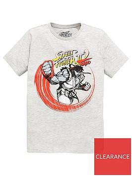 street-fighter-boys-street-fighter-short-sleevenbspt-shirt-grey