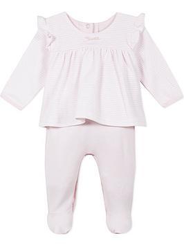 absorba-baby-girls-2-in-1-stripe-ruffle-babygrow