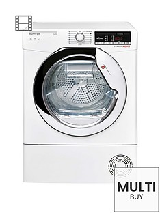 hoover-dynamic-next-dxoc10tce-10kg-load-aquavision-condenser-tumble-dryer-with-one-touch-whitechrome