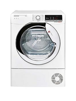 Hoover Dynamic Next Dxoc10Tce 10Kg Load Aquavision Condenser Tumble Dryer With One Touch - White/Chrome