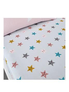 Cosatto Fitted Bed Sheets Cotbed Happy Stars