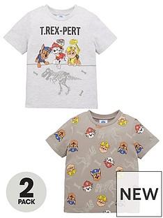 paw-patrol-boys-2-pack-short-sleevenbsptrex-pert-t-shirts-multi