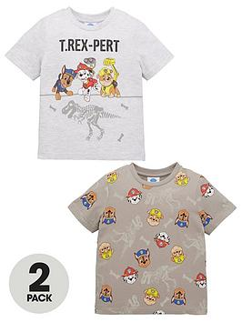 paw-patrol-boys-2-pack-short-sleevenbsptrex-pert-t-shirts-multi