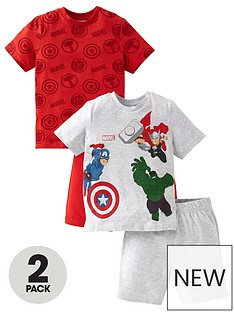 marvel-boys-marvel-2-pack-shorty-pjs-multi