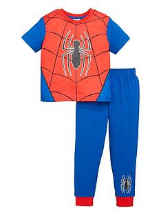 spiderman-boysnbspglow-in-the-dark-novelty-short-sleeve-pjs-multi