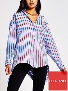 river-island-poplin-shirt-blue-stripe