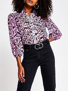 river-island-chiffon-shirt-pink-zebra