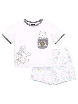 winnie-the-pooh-kids-unisex-disney-winnie-the-pooh-pocket-detail-shorty-pyjamas-white