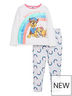 paw-patrol-girlsnbsprainbow-long-sleeve-pjs-multi