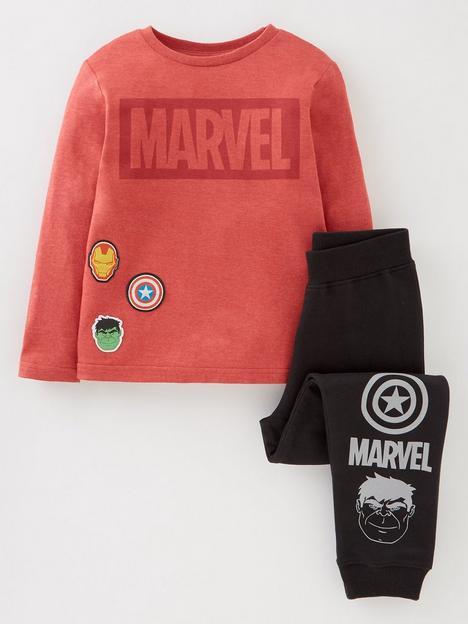 marvel-boys-marvel-2-piece-badges-t-shirt-and-jogger-set