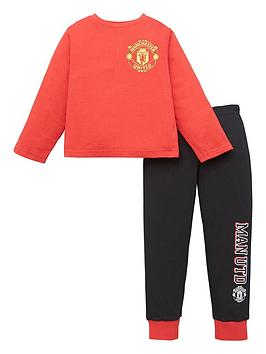 Manchester United Boys Long Sleeve Pjs - Red