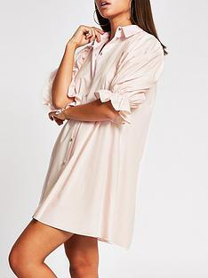 river-island-pleat-sleeve-shirt-dress-pink