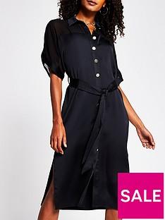 river-island-chiffon-panel-shirt-dress-black
