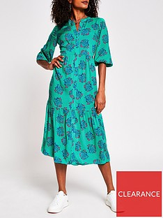 river-island-button-through-midi-dress-green
