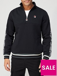 fila-murray-taped-arm-half-zip-top-black