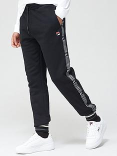 fila-danube-taped-side-pants-black