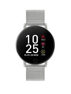reflex-active-series-5-smart-watch-with-heart-rate-monitor-colour-touch-screen-and-stainless-steel-mesh-strap