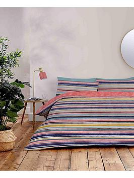Product photograph showing Accessorize Water Stripe Duvet Cover Set