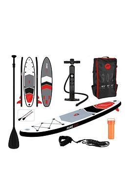 pure-4-fun-pure-320-sup-all-round-inflatable-stand-up-paddle-board-105-feet-complete-set-with-pump-patch-tool-foot-lead-adjustable-paddle-and-waterproof-2l-bag