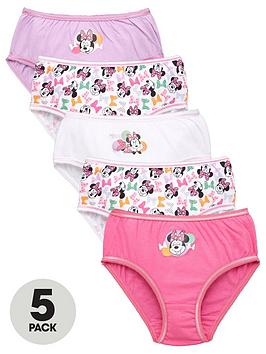minnie-mouse-girlsnbsp5-pack-bow-knickers-multi