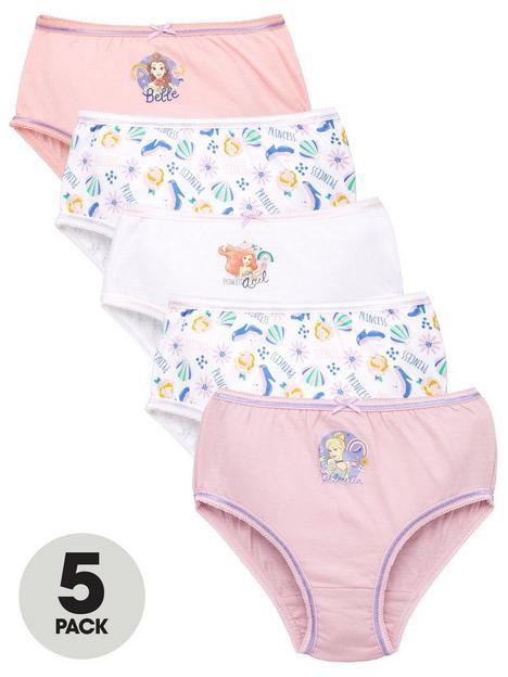 disney-princess-girlsnbsp5-pack-knickers-multi