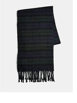 topman-watch-check-scarf-black