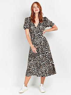 wallis-neutral-zebra-midi-dress