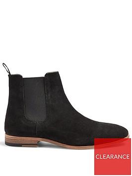topman-caden-fauxnbspsuede-chelsea-boots-black
