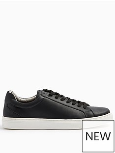 topman-vice-lace-up-trainers-black