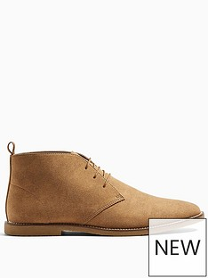topman-spark-faux-suede-chukka-boots-tan