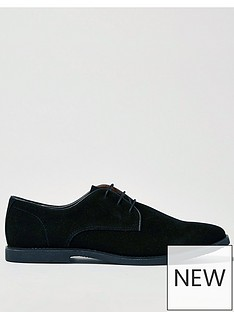 topman-spark-faux-suede-derby-shoes-black