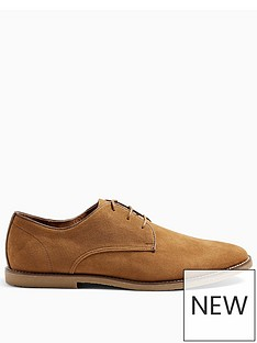 topman-spark-faux-suede-derby-shoes-tan