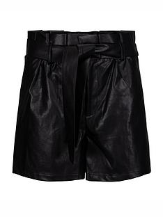 sofie-schnoor-faux-leather-shorts-black