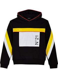 no-21-boys-pocket-logo-hoodie-black