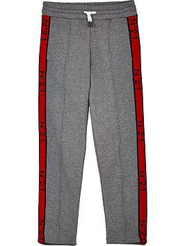 no-21-boys-tape-logo-joggers-grey