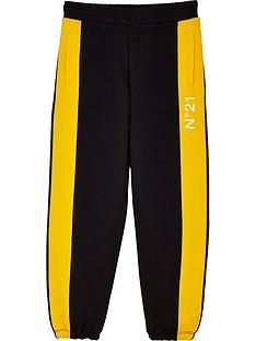 no-21-boys-side-stripe-logo-joggers-black