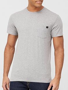 edwin-pocket-logo-t-shirt-grey