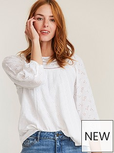 fatface-maisy-lace-top-white