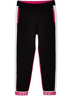 no-21-girls-logo-cuff-joggers-blackpink