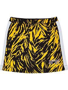 no-21-girls-zebra-logo-jersey-skirt-yellowblack