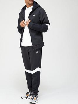 adidas-mtsnbspwinterized-tracksuit-blackwhitenbsp