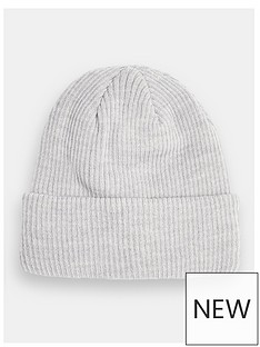 topman-ribbed-beanie-hat--nbspgrey
