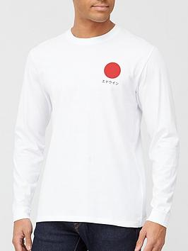 edwin-japanese-sun-long-sleeve-t-shirt-white