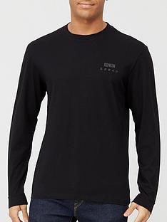 edwin-chestnbsplogo-long-sleeve-t-shirt-black