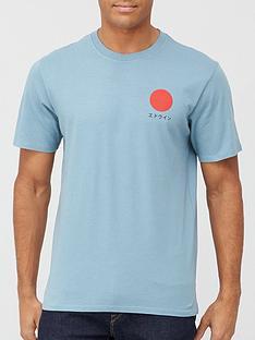 edwin-japanese-sun-t-shirt-blue