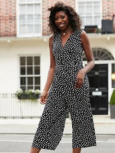wallis-smudge-spot-wrap-culotte-jumpsuit