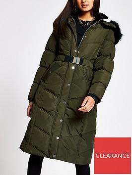 river-island-longline-belted-padded-coat-khaki