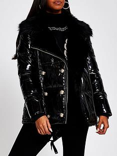 river-island-aviator-high-shine-paddednbspcoat-black